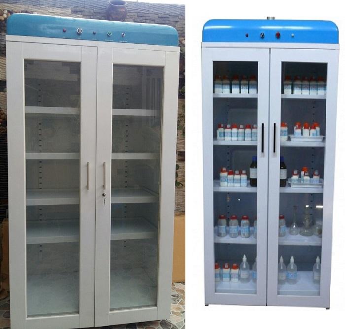 Khi không sử dụng, thiết bị thí nghiệm nên được đựng trong tủ chuyên dụng